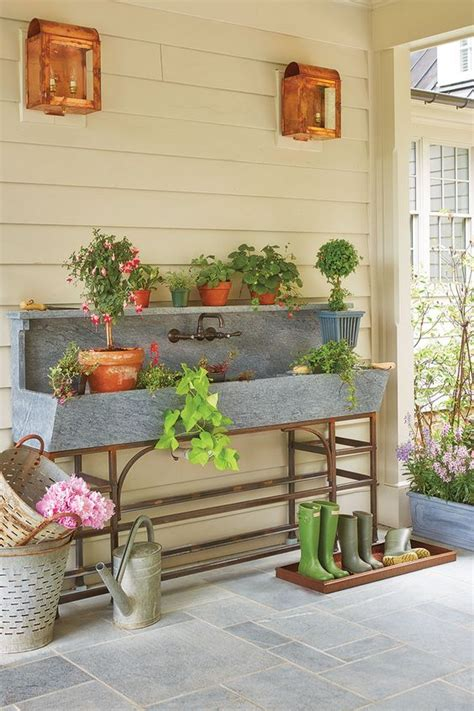 potting bench plans southern living 1000 ideas about outdoor sinks on outdoor