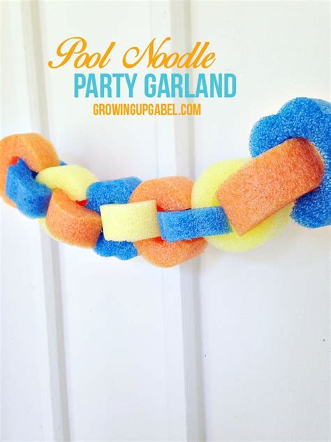 pool decoration ideas pool noodle garland