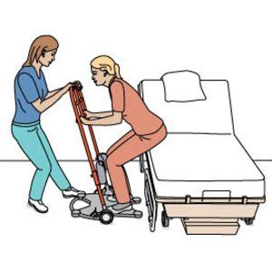 lit verticalisateur asstsas lever la cliente du lit avec un verticalisateur