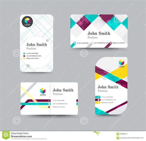 Template Business Card New Address by Business Contact Card Template Design Vector Stock Stock