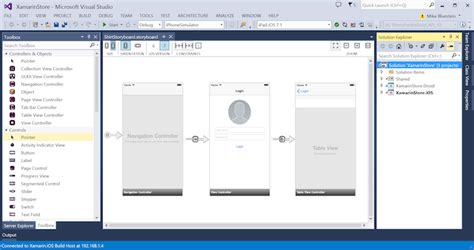 customizing ui layout in the visual editor ios user interface design in visual studio and xamarin