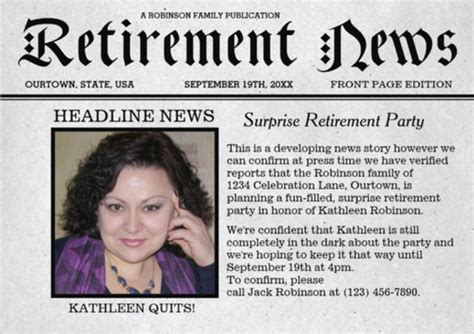 retirement party flyer template postermywall