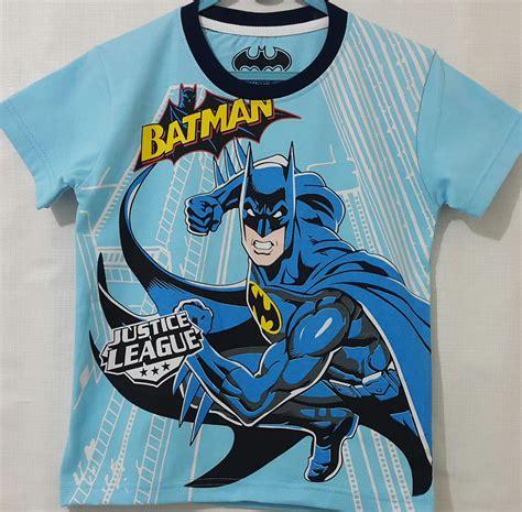 Kaos Batman Anak kaos anak batman biru 1 6 justice league grosir eceran