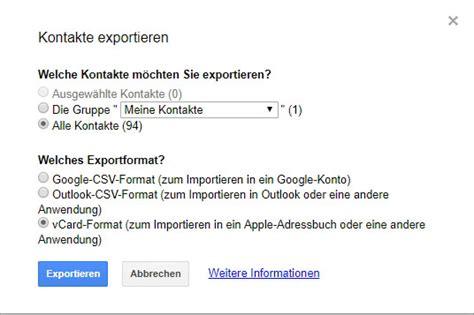 icloud kontakte exportieren csv