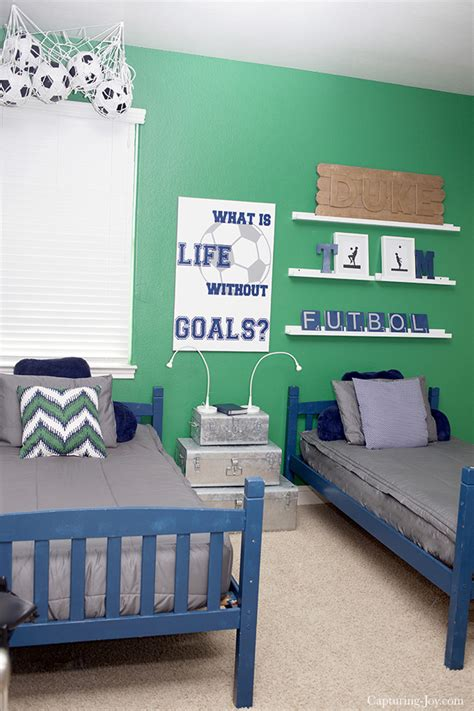 Soccer Room Decor Boys Soccer Room Makeover Capturing With Kristen Duke
