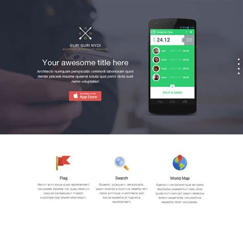 bootstrap templates for mobile app free bootstrap 3 app showcase one page template free download