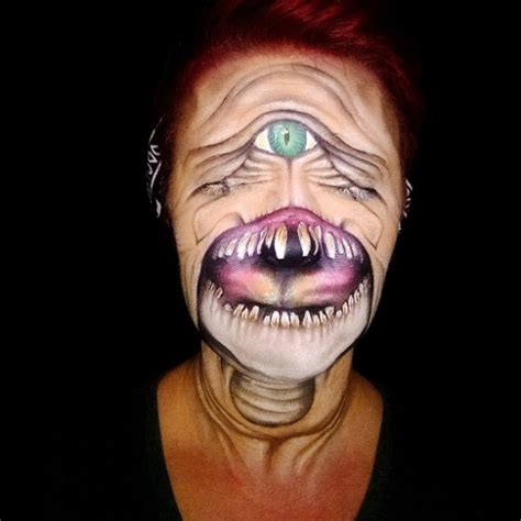 scary face painting designs by nikki shelley