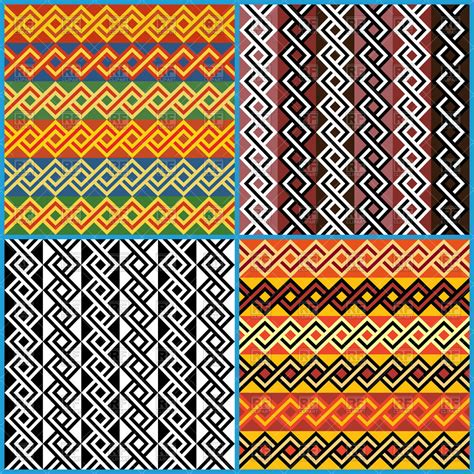 ethnic pattern art seamless african ethnic patterns royalty free vector clip