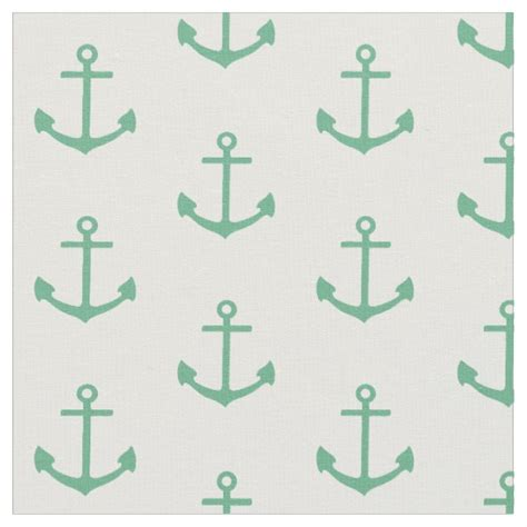 fabric pattern anchor teal anchor pattern nautical fabric zazzle
