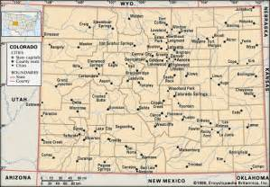 colorado state map with cities and counties map political map of colorado encyclopedia