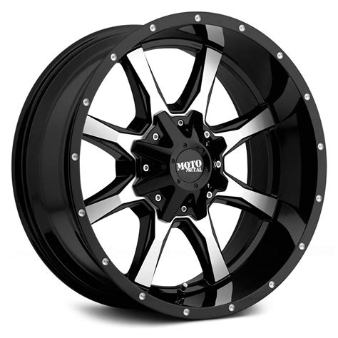 motto wheels moto metal 174 mo970 wheels gloss black with milled rims