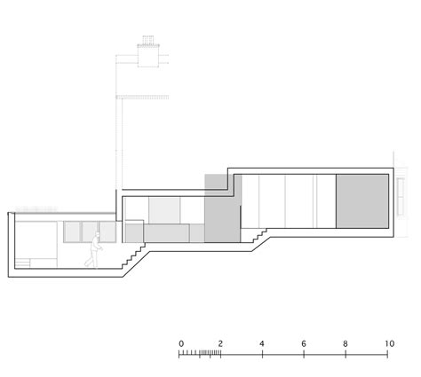 Split Level House Section by William Tozer S Split Level Raumplan House Is Based On The