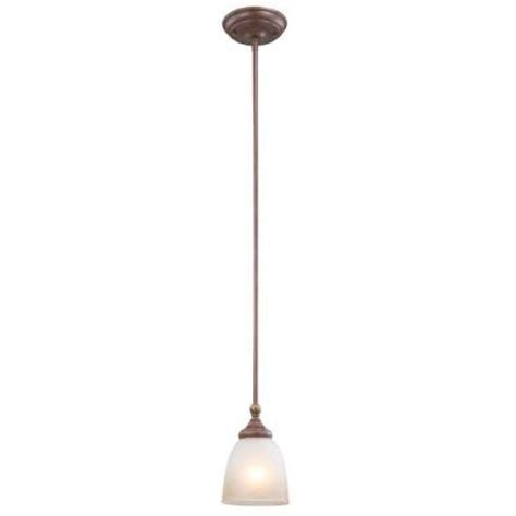 Home Depot Pendant Lights by Hton Bay Bristol Collection 1 Light Nutmeg Bronze Mini