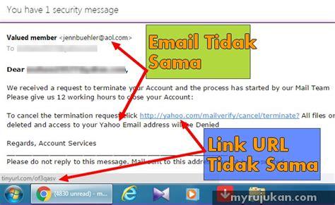 email yahoo kena virus cara hendak tahu scam penipuan email myrujukan