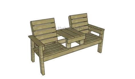 double chair bench  table plans  outdoor plans