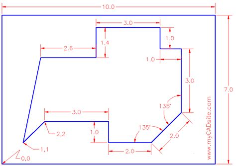 tutorial for autocad extra practice copy this drawing extra 005 gif
