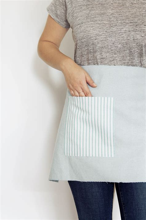 apron pattern using a man s shirt diy no sew waist apron almost makes perfect