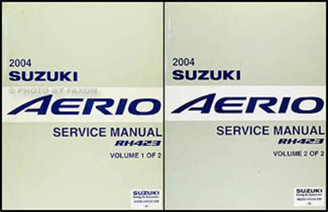 service manual old car manuals online 2004 suzuki verona security system service manual 2004 2004 suzuki aerio repair shop manual 2 volume set original