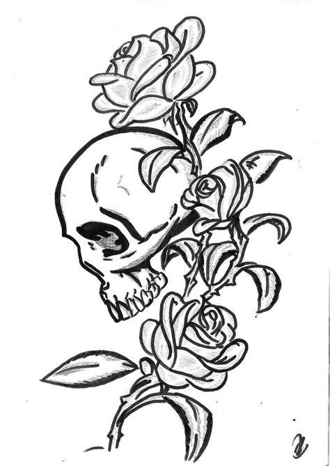 skull tattoo outline designs 35 skull tattoos