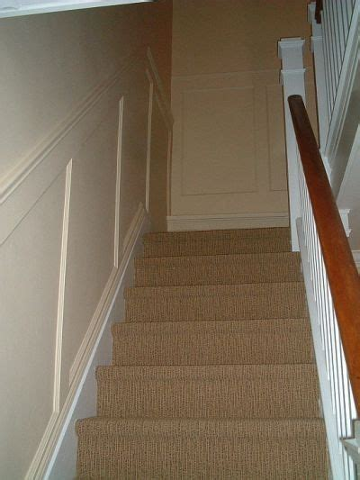 recessed paneled wainscot stair application  elite trimworks