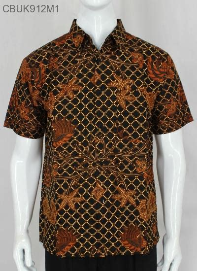 Kemeja Sogan Batik kemeja batik pendek motif sogan cemeng kemeja lengan
