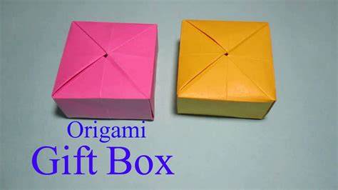 How To Make Gift Box From Paper - origami gift box how to make an origami gift box easy