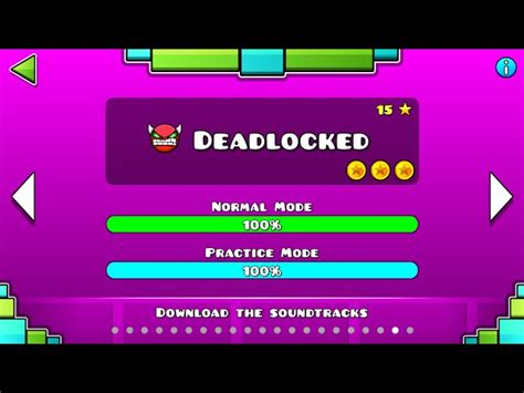 geometry dash full version soundtrack geometry dash deadlocked 100 complete all coins