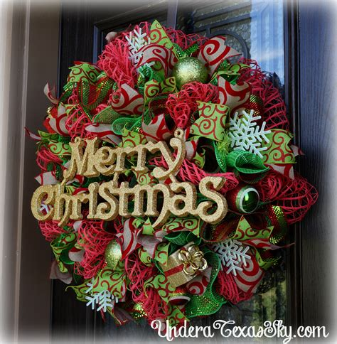 christmas deco mesh wreath instructional tutorial under