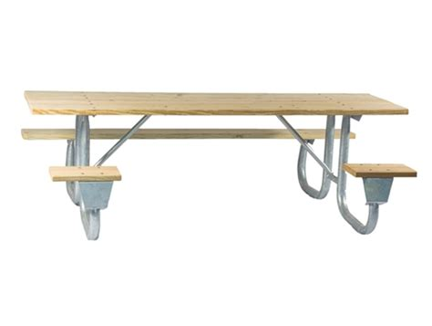 picnic table frame kit ada frame kit for 6 ft picnic table welded 2 3 8 quot galvanized steel portable by park tables
