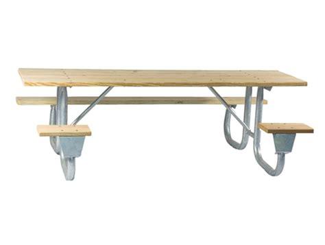 galvanized picnic table frame ada frame kit for 6 ft picnic table welded 2 3 8