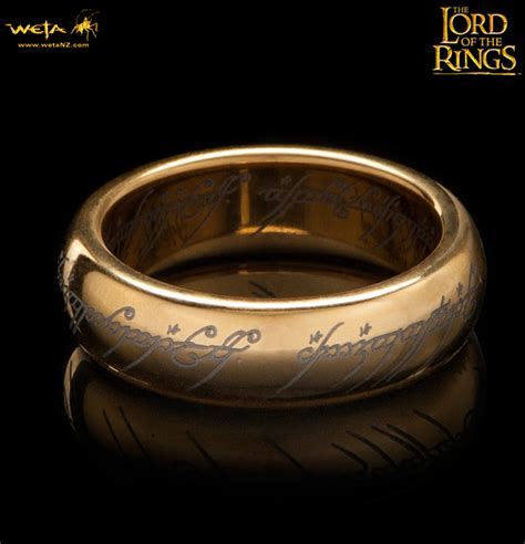 the lord of the rings gold plated tungsten carbide one