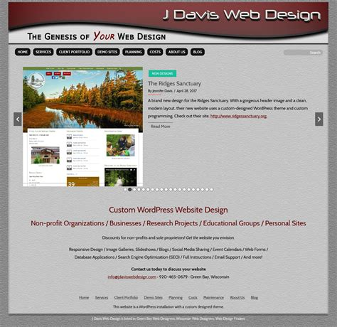 wordpress members only section j davis web design custom wordpress design