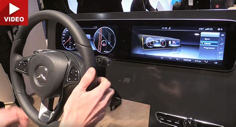 mercedes digital dashboard mercedes shows 2017 e class customizable dash at