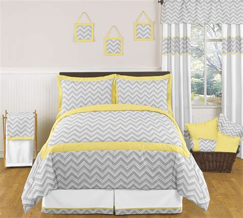 Zig Zag Bedroom Ideas Yellow Gray Size Chevron Bedding Comforter Set