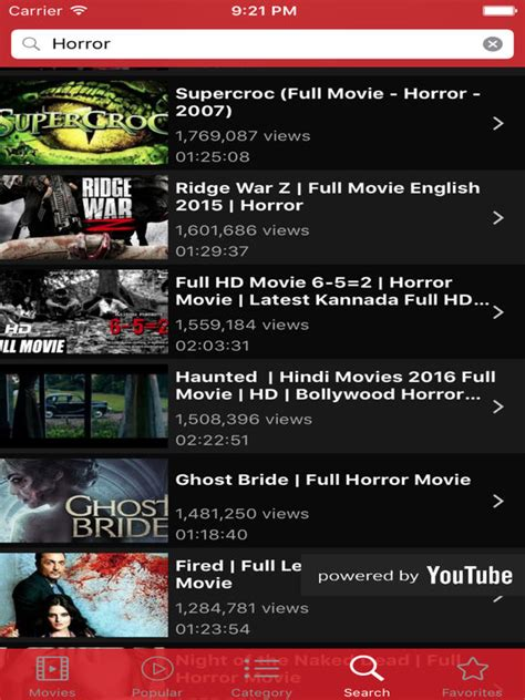 full movies powered by youtube on the app store app shopper movie tube free movies watch full movies