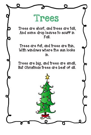 christmss preschool poems the busy kindergarten three poems for