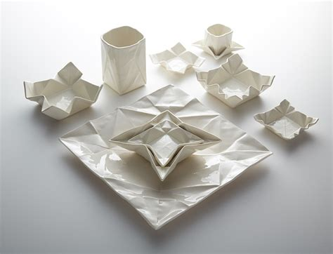 Shaped Origami - creative origami shaped ceramic tableware and glasses