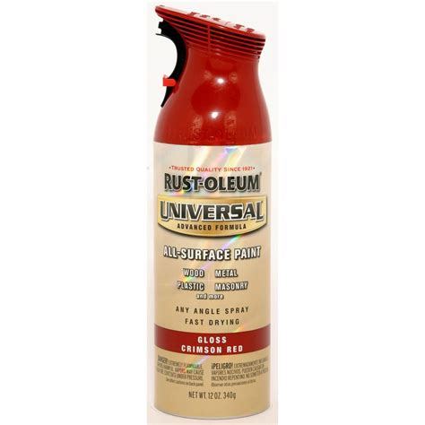 shop rust oleum universal 12 oz crimson gloss spray paint at lowes