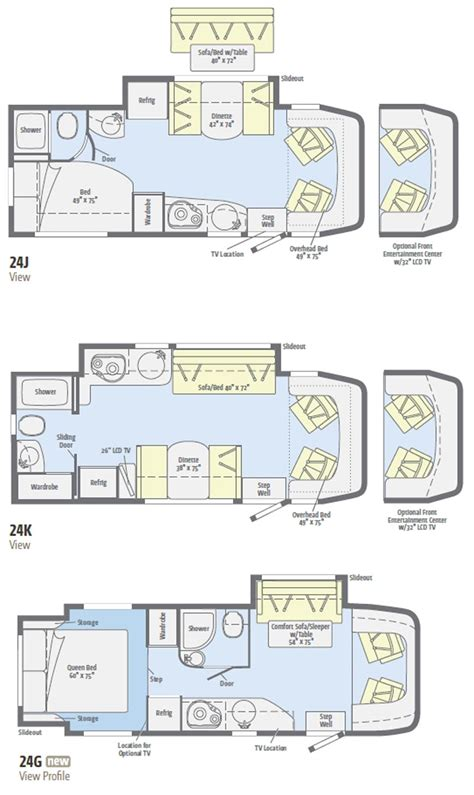 view floor plans 2011 winnebago view class c motorhome floorplans