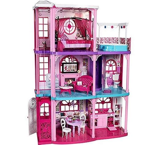 buy barbie dream house mattel barbie doll pink 3 story dream house townhouse used