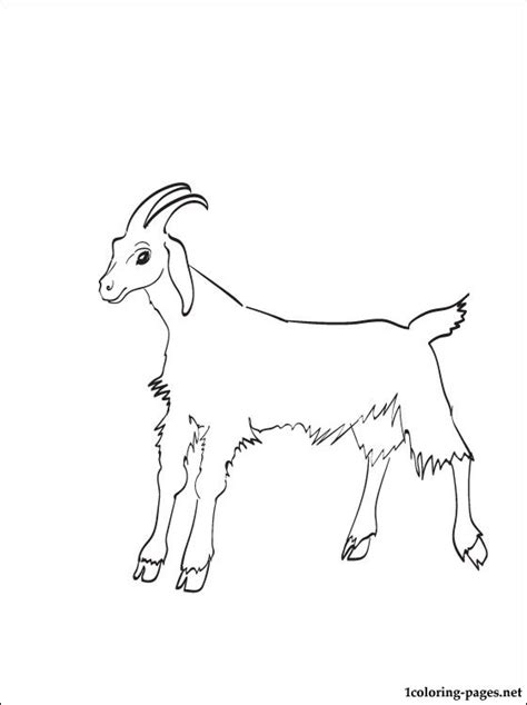 free coloring pages goats free coloring pages of goat