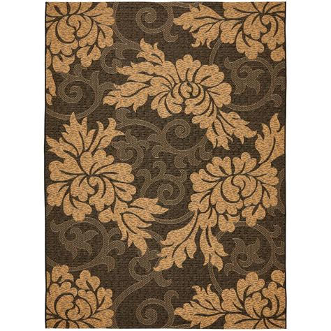 black indoor outdoor rug safavieh courtyard black 9 ft x 12 ft indoor outdoor area rug cy6957 46 9 the home depot