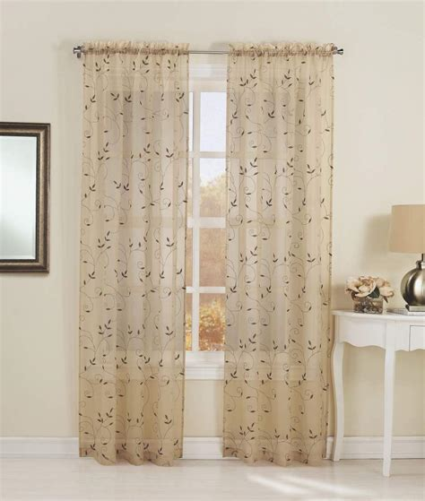 embroidered window curtains essential home alex embroidered sheer voile window panel
