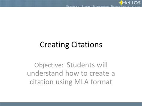 How To Make A Citation In A Research Paper - creating citations objective students will understand how