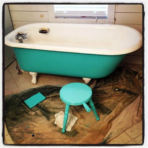 painted bathtub clawfoot tub painted home pinterest