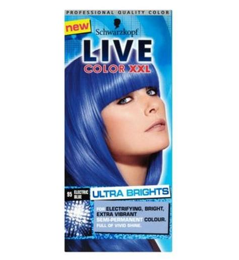 loreal blue hair dye best schwarzkopf live color 95 electric blue semi permanent