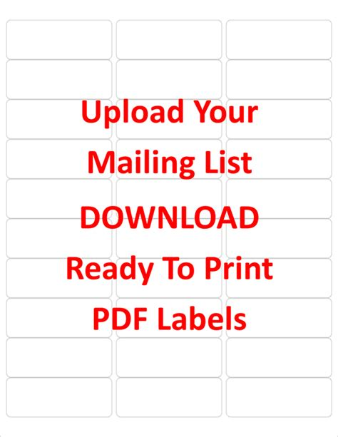 5160 avery labels template create labels from your mailing list in excel