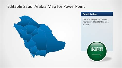 Ksa Template by Editable Saudi Arabia Map Template For Powerpoint Slidemodel