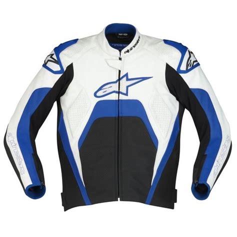 Jaket Alpinestars Jr Blue alpinestars tech 1 r leather jacket black white blue