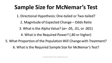 design effect in sle size determination calculate the sle size for mcnemar s test